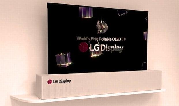 Le fabricant LG va produire un téléviseur géant enroulable