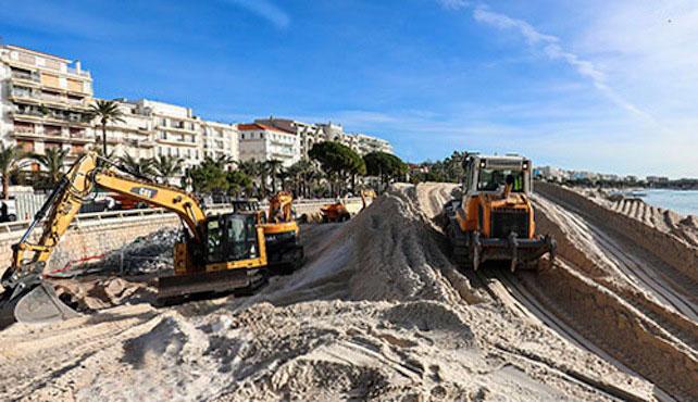 Cannes : la Croisette mène d'importants travaux de réensablement