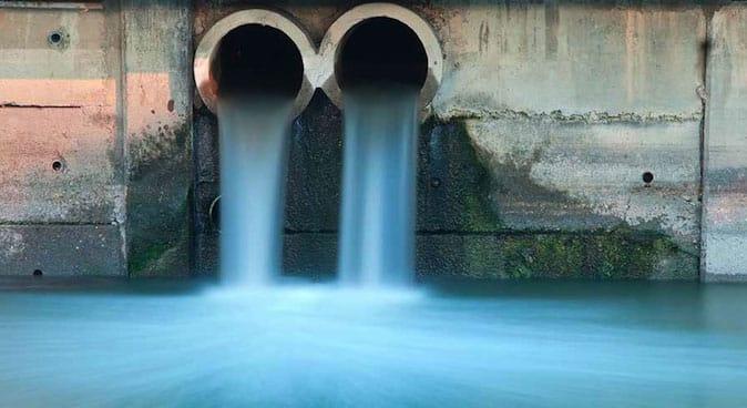 Canalisation d'eaux usées traitées