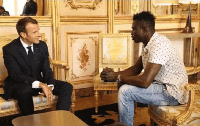 Emmnuel Macron et Mamadou Gassama