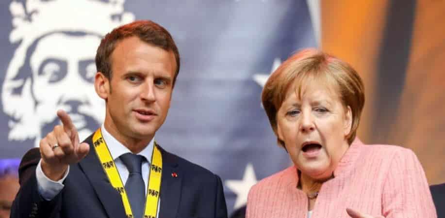 Président Emmanuel Macron et Angela Merkel