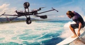 surf et survol de drones en vacances, des images saisissantes
