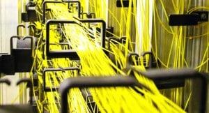 la couverture de la fibre optique en cours de développement