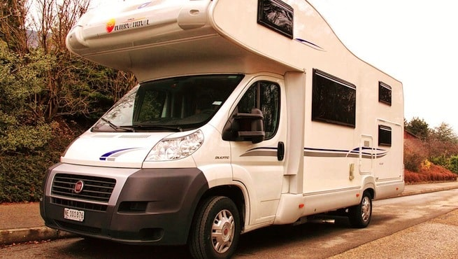 Camping-car qui roule