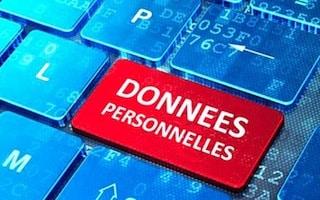 Touche Donnees personnelles sur clavier d'ordinateur