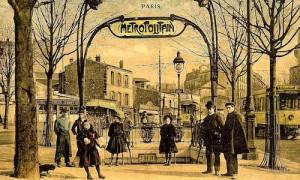 Ancienne bouche de métro à Paris