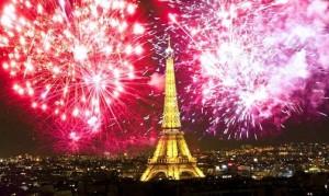 Feux d'artifice à la Tour Eiffel