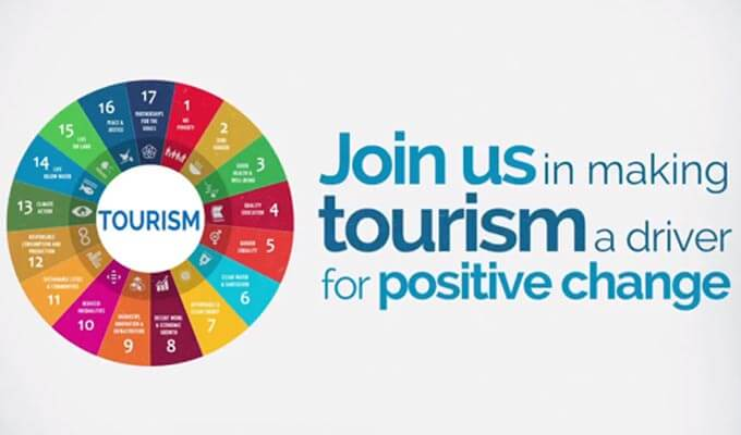 schéma de répartition de la plateforme Tourism for SDG's
