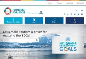 Visuel du site Tourism for SDG's