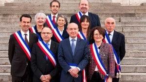 Groupe d'élus réunis à Vichy