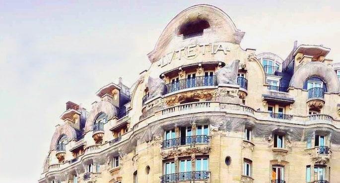 Facade de l'hotel Lutetia