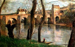 Le pont de Mantes par Corot