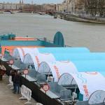 la déchèterie fluviale de Lyon sur le quai de la Saône