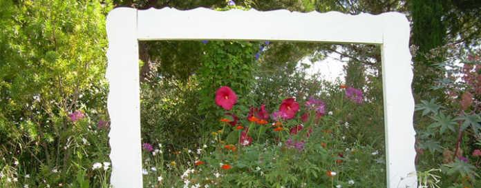 des fleurs et de la verdure