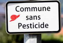 """panneau annonçant """"commune sans pesticide"""""""