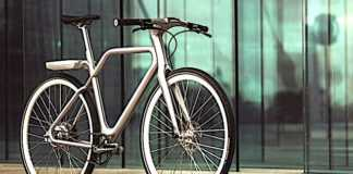 Le vélo Angell, électrique et connecté, bénéficie d'une conception très innovante.