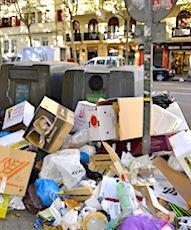Provisoirement, enfouir les ordures ménagères est une solution d'urgence, suite à la grève menée par la CGT Energie.