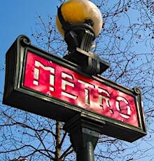 signal de station de métro concernés par la reprise des transports publics