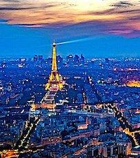 vue nocturne de Paris un exemple de dépense en éclairage public
