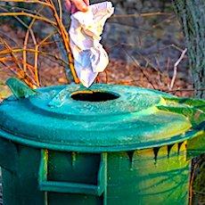 une poubelle pour illustrer la taxe sur les ordures ménagères