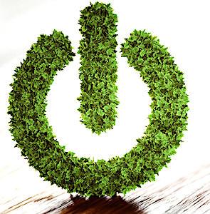 un logo de connexion en feuillage vert pour illustrer une économie circulaire