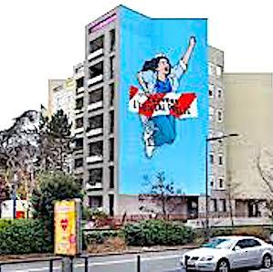 Pour rendre hommage à ses soignants, Montreuil va inaugurer une grande fresque en centre ville.