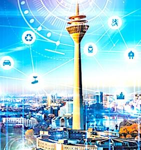 dessin d'une ville futuriste pour un avenir des smart cities