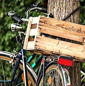 vélo sur un itinéraire à vélo des canaux de la Loire