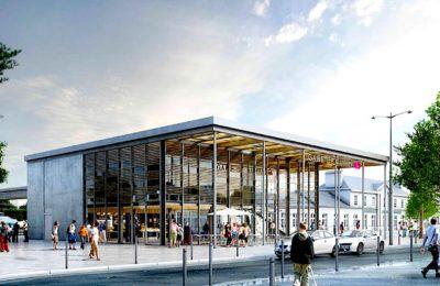 La nouvelle gare d'Auray est un ensemble flambant neuf, favorisant le confort des voyageurs.