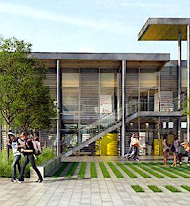 La nouvelle gare d'Auray est un ensemble flambant neuf qui favorise le confort des voyageurs.