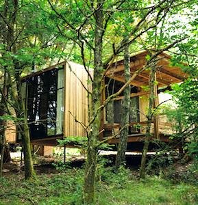 vue d'une maison du nouveau village forestier des Ardennes